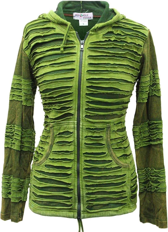 Shopoholic Fashion Women Slashed Layer Pointy Hoodie Hippie Jacket