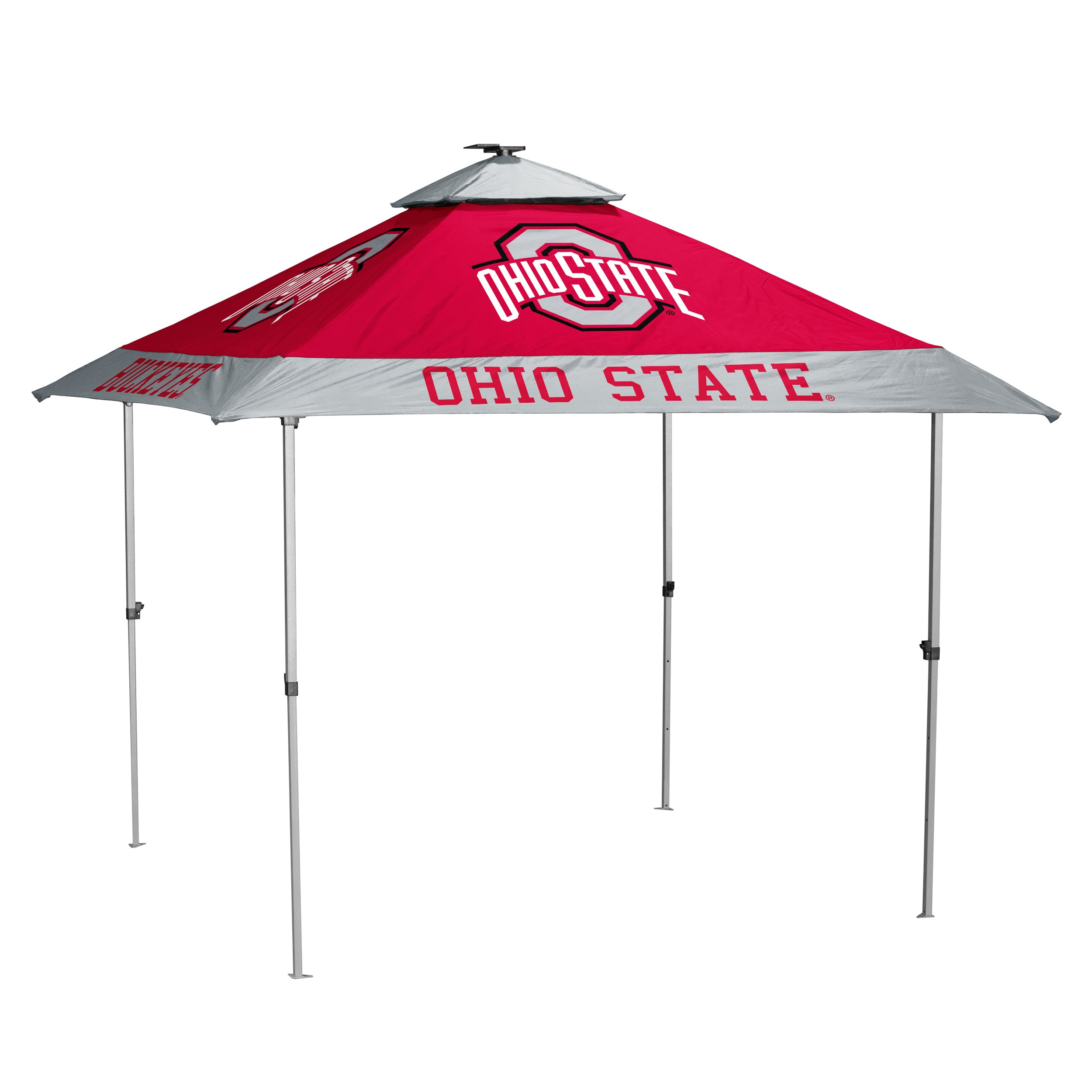 Logo Brands 191-37P NCAA Ohio State Buckeyes Unisex Pagoda Tent, One Size, Red