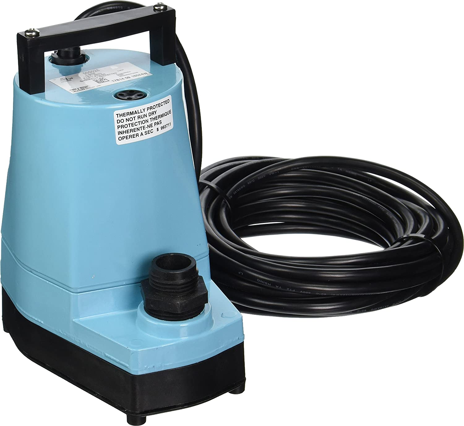 Little Giant 505025 1/6 HP Submersible Utility Pump, 5-MSP 115 Volt 1200 GPH