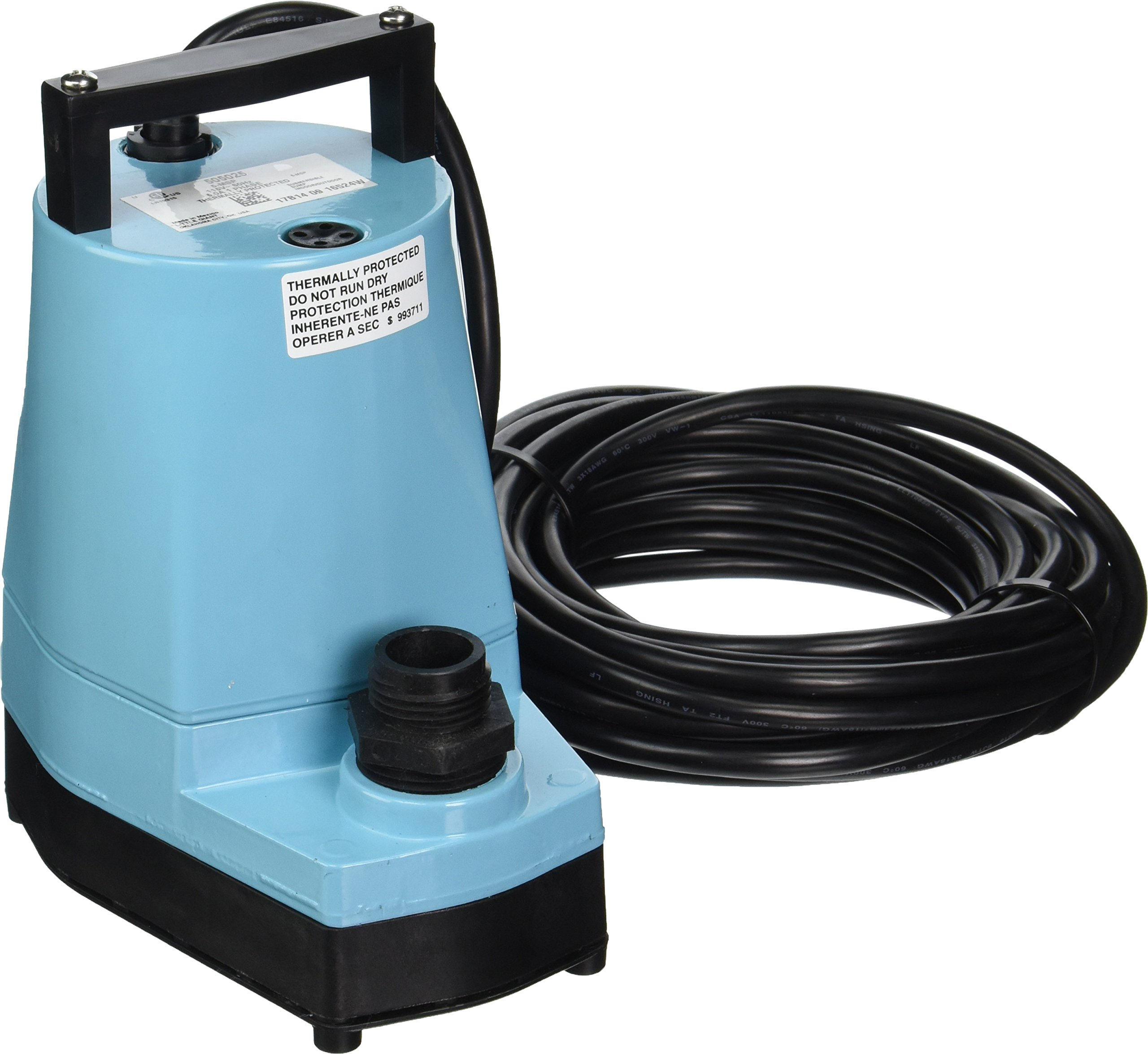 Little Giant 505025 1/6 HP Submersible Utility Pump, 5-MSP 115 Volt 1200 GPH