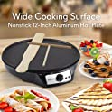 "NutriChef Nonstick 12"" Electric Crepe Maker"