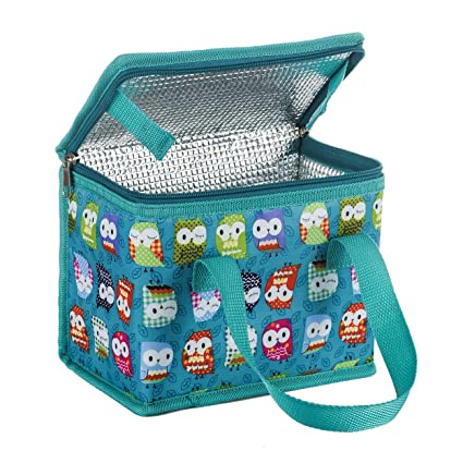 d24b8046d27e TEAMOOK Lunch Bag Insulated Lunch Box Cool bag Green Owl 6 cans  Amazon.co.uk   Kitchen   Home