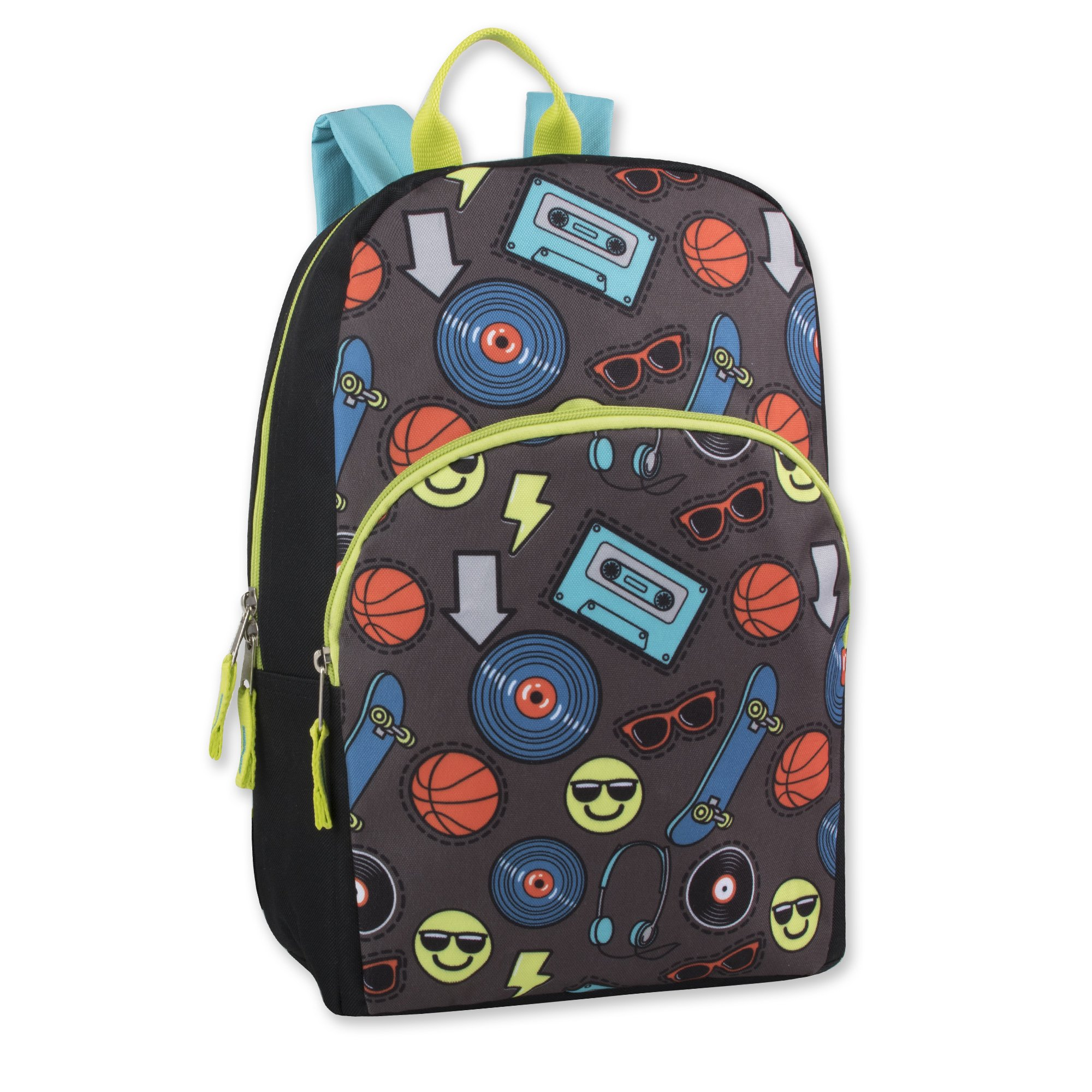 Trail maker Character Backpack (15'') with Fun Fashionable Design for Boys & Girls (Emoji Boy) by Trail maker (Image #1)
