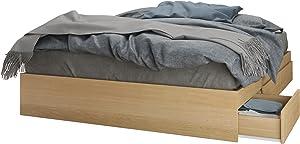 Nexera 3-Drawer Queen Storage Bed, Natural Maple