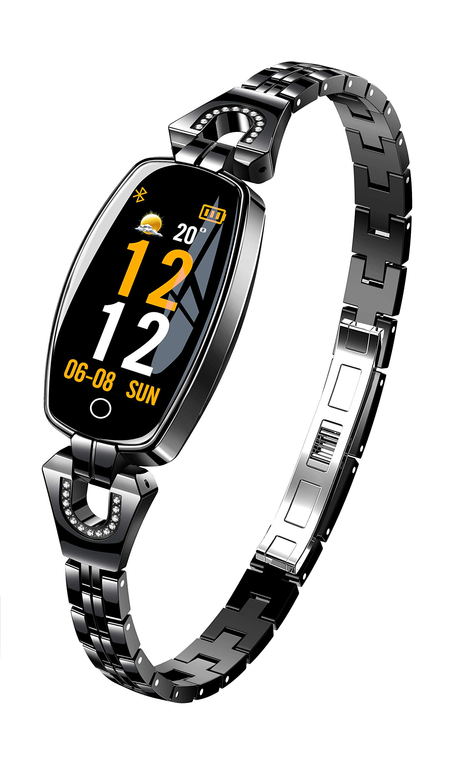 Byoung Smart Bracelet Fitness Tracker,IP68 Waterproof Activity Tracker for Women 1.3 inch Smart Watch with Blood Pressure/Heart Rate Monitor/Calorie Counter/Sleep Monitor for iOS Android Samsung