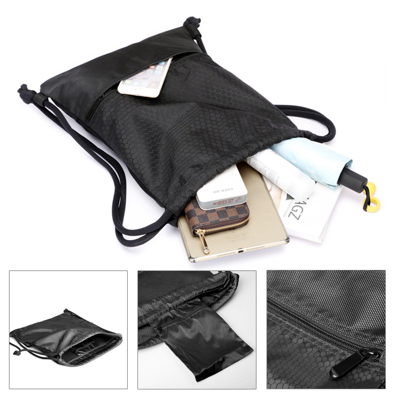 889c883244d4 Drawstring Bag Waterproof Sport Foldable Sack Drawstring Backpack Hovinso  10454213
