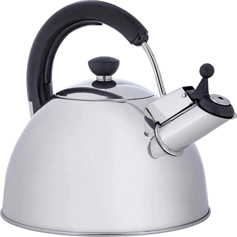 ONVAYA® Hervidor de agua de acero inoxidable, 2,5 l, hervidor de agua, tetera clásica con silbato y silbato para inducción
