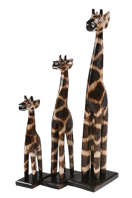 Jirafa de madera, decoración-jirafa, juego de 3 pcs, tallas: aprox ...