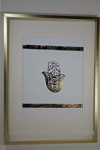 Hamsa gold foil poster by shreeguru gold foil print office living room study