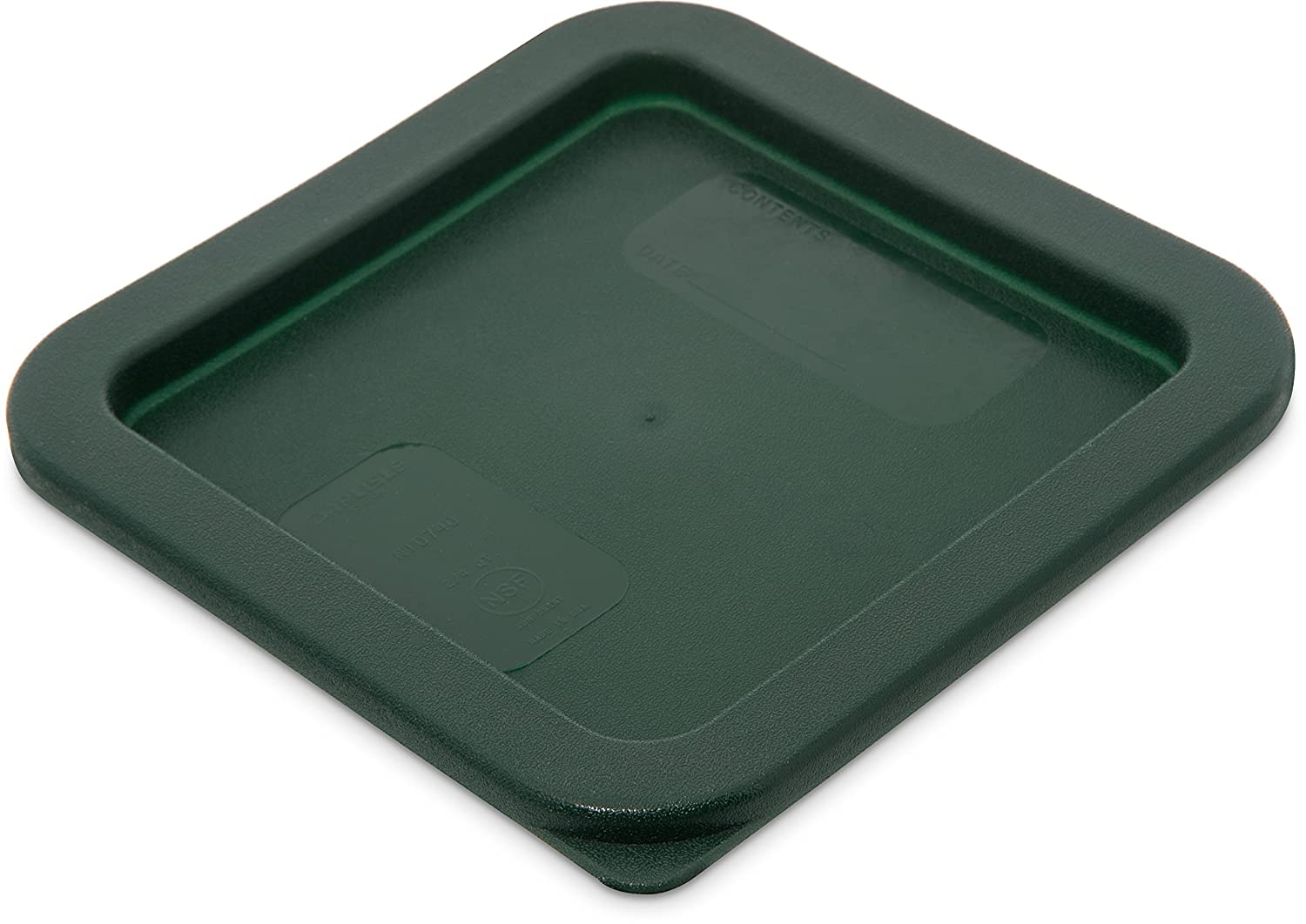 Carlisle 1074008 Storplus Square Container Lid, 2-4 Quart, Dark Green