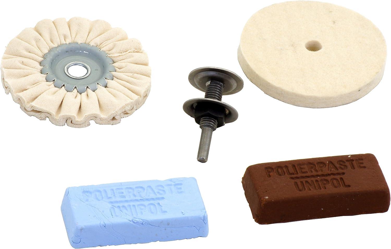Connex COM179000 Polier Set mit Filzscheibe