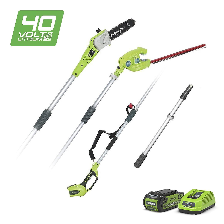 Greenworks 1300607UA Podadora y Cortasetos Telesc/ópico Inal/ámbrico 40 V Verde