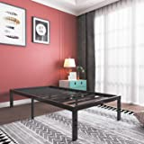 16 Inch Twin XL Platform Bed Frame- Heavy Duty Strong Steel Mattress Foundation/ No Box Spring Needed Solid Bed Base / Noise