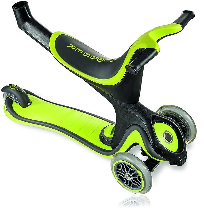 authentic sports & toys GmbH globber My Free 5 in1/EVO 5 en 1, Unisex, GLOBBER MY Free 5IN1 grün/Schwarz, Verde/Gris