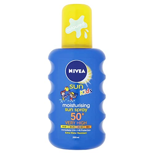 Nivea Moisturising Sun Spray for Kids, Very High SPF 50+, 200 ml
