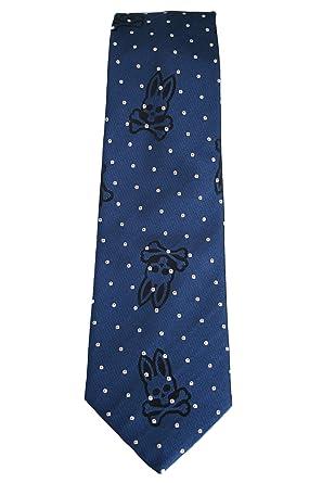 Psycho Bunny - Corbata de seda, diseño de conejo con lunares ...