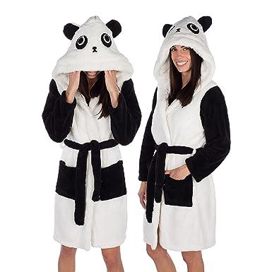 Amazon emolly fashion panda bathrobe with hood soft and warm emolly fashion panda bathrobe with hood soft and warm robe for women small sciox Image collections