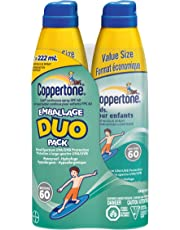 Coppertone Kids Continuous Spray Sunscreen Spf60 Duo Pack, 444Ml
