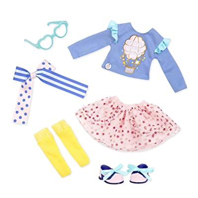 "Glitter Girls by Battat - Spun Sugar Fun! Outfit -14"" Doll Clothes– Toys, Clothes & Accessories for Girls 3-Year-Old & Up: Toys & Games"