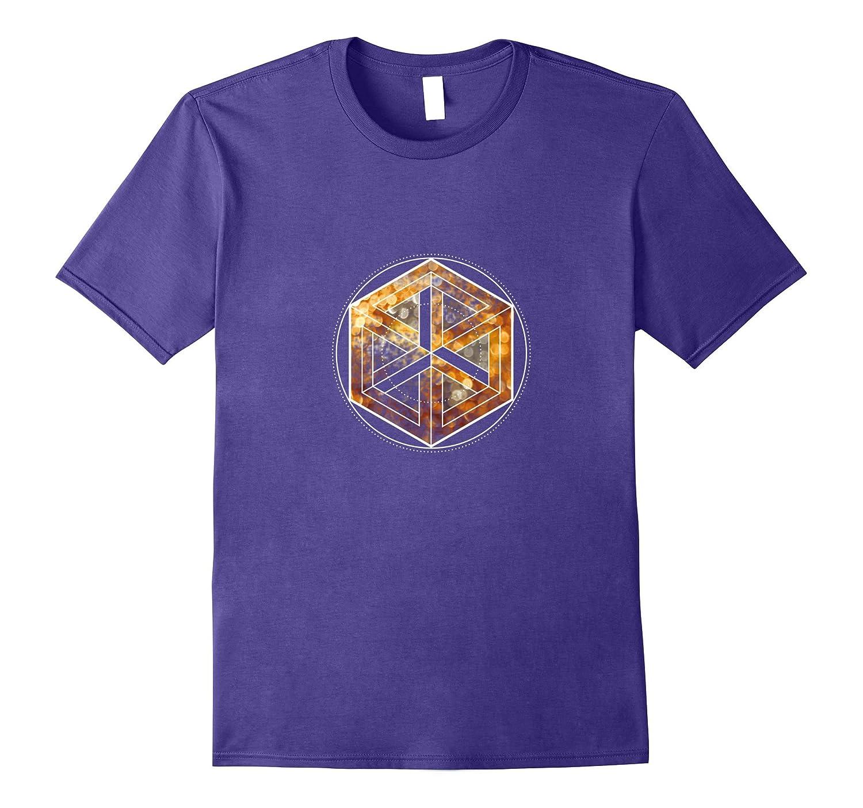 cpu 6eck geometric circle mathematic nerd T-Shirt-CD