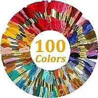 Tosenpo 100 madejas hilo de bordado colores al