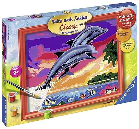 Ravensburger Malen Nach Zahlen 28389 Welt Der Delfine 24 X 30 Cm