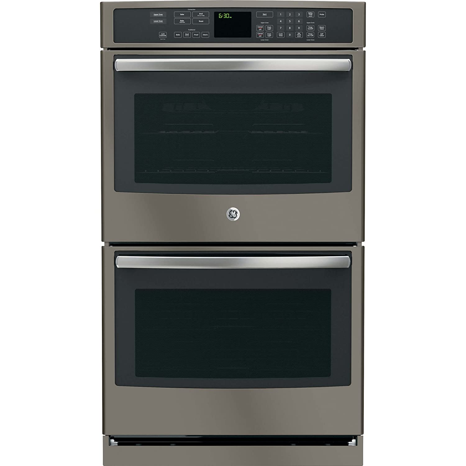 GE PT7550EHES Profile 30' Slate Electric Double Wall Oven - Convection