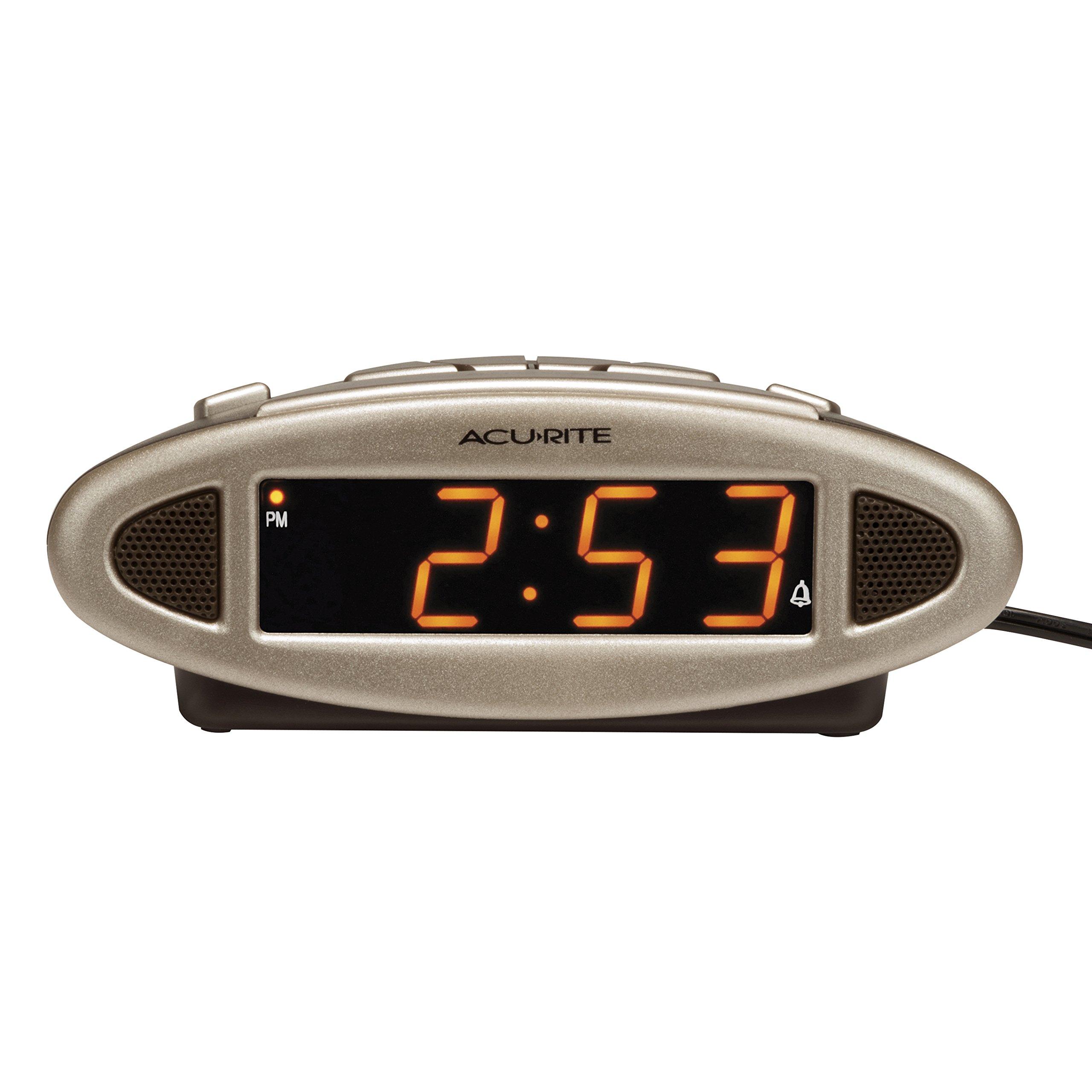 AcuRite 13027A Intelli-Time Digital Alarm Clock by AcuRite