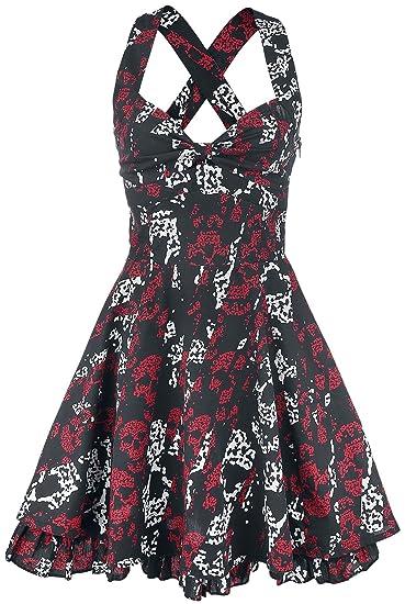 Rockabella Storm Skull Dress Black S Rockabella Amazon Clothing