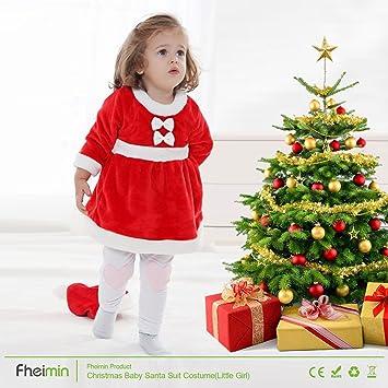 fd6eec0dc995d Déguisement père noel vetement enfant petite fille robe costume pour noel 2  pièces  robe et