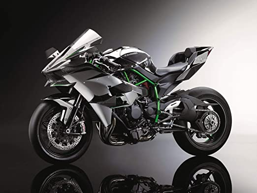 Black Creations Kawasaki Ninja H2R Deportivo Cartel Lienzo ...