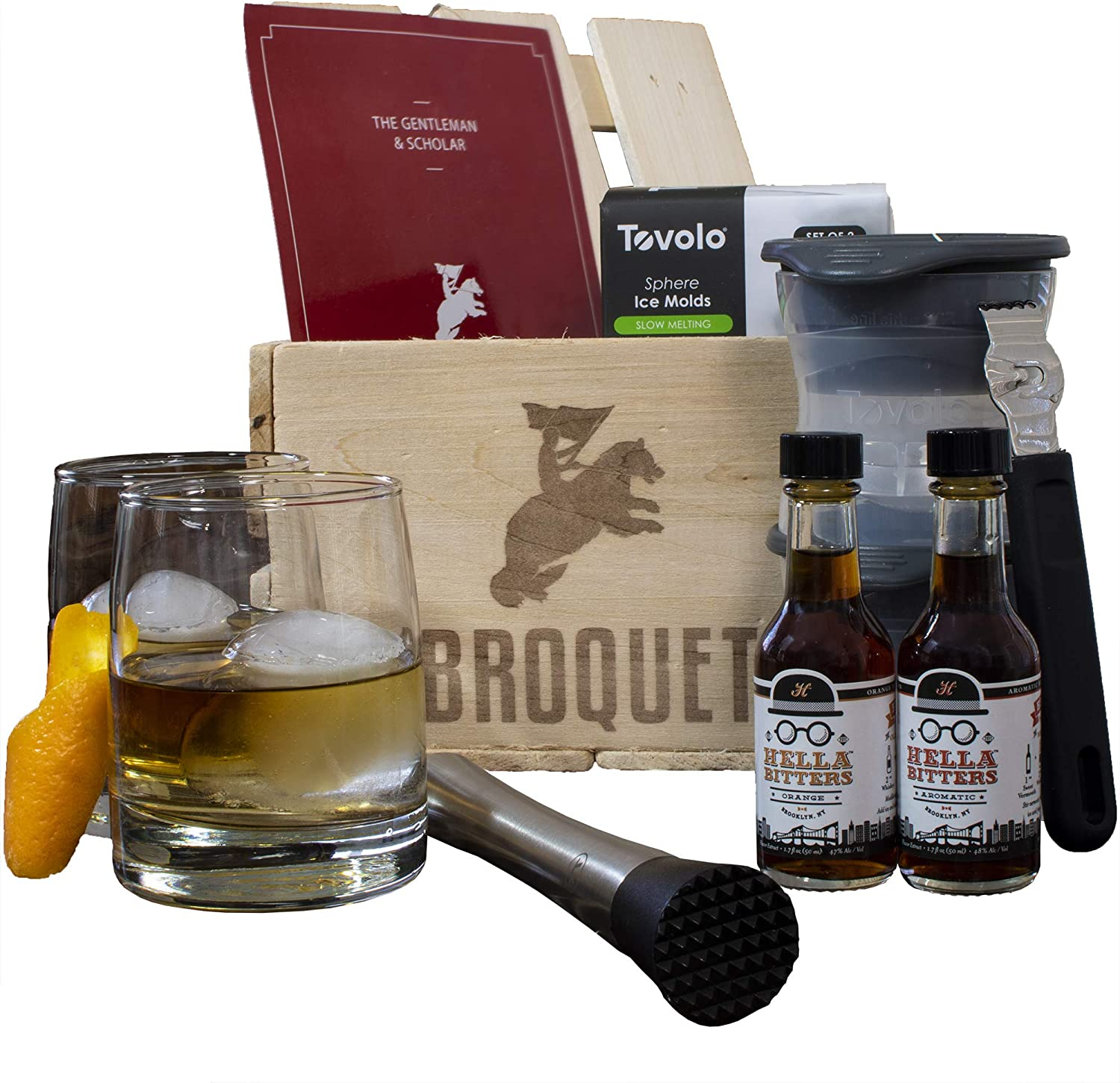 Amazon.com: Professional Old Fashioned Cocktail Bartender Kit- Perfect for  mixing old fashions (8 Piece Bar Tools Set) Comes in a Luxury Wooden Gift  Crate - Whiskey Glasses - Gifts For Men -