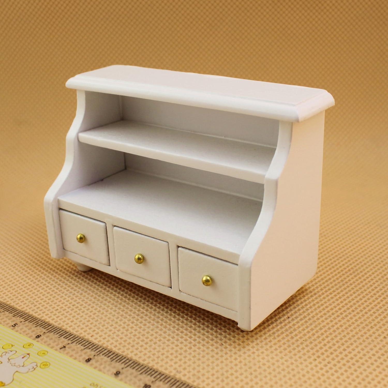 1/12 Bathroom Cabinet Toilet Dollhouse Miniatures Furniture White Door House Accessories iraintech