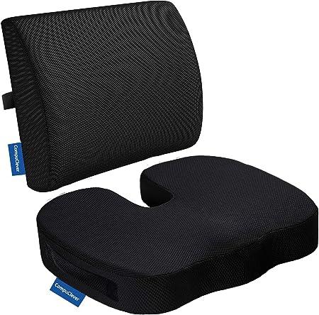 Memory Foam Cojines de asiento y soporte lumbar proporcionan