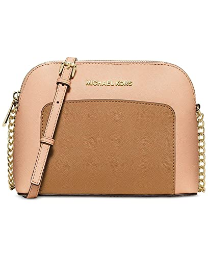 3e60b21d170 Image Unavailable. Image not available for. Color: Michael Kors Cindy  Colorblock Crossbody - Nude/Peanut