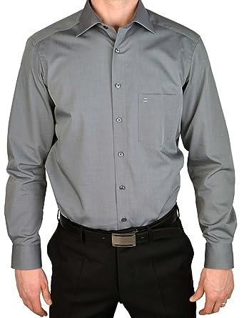 quality design 1f6b0 9d364 Olymp Hemd slim line, bügelfrei mittelgrau New Kentkragen in extra langer  Arm (69cm)