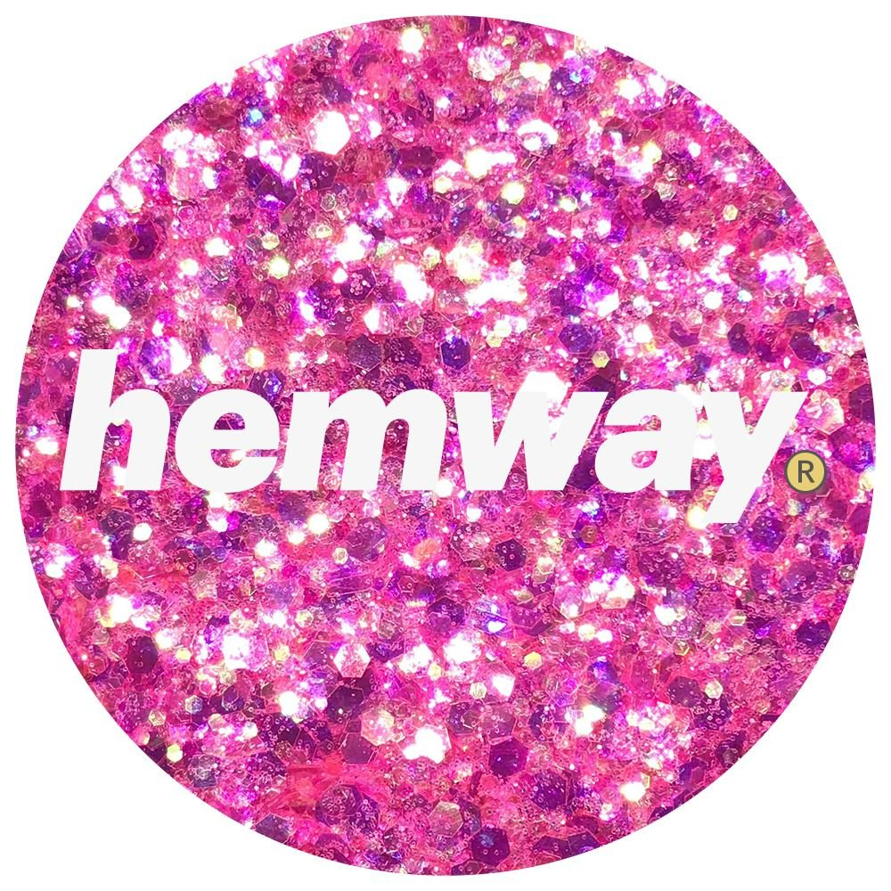 Hemway Hot Pink Iridescent Mix Glitter Chunky Multi Purpose Dust Powder Arts & Crafts Wine Glass Decoration Weddings Flowers Cosmetic Face Eye Body Nails Skin Hair Festival 100g by Hemway (Image #3)