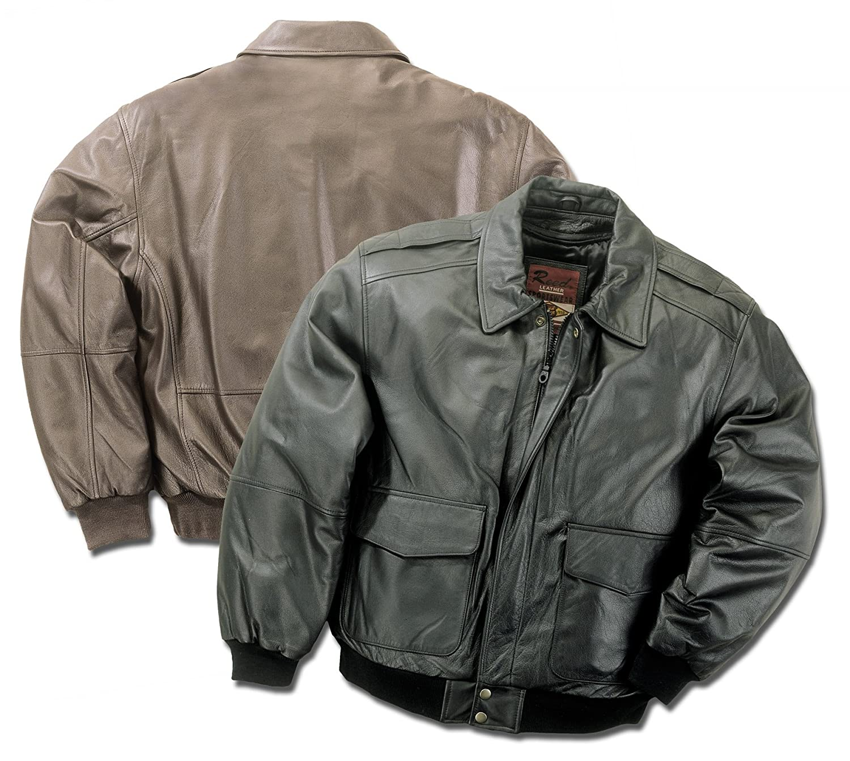 Amazon.com: Reed Hombres Premium de piel aviador bombardero ...