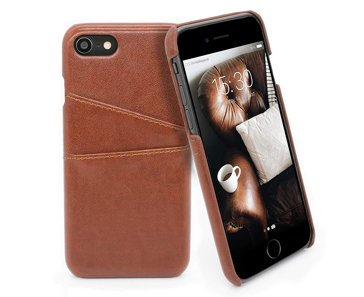 MyGadget Funda Back Case en Cuero PU con Tarjetero para Apple ...