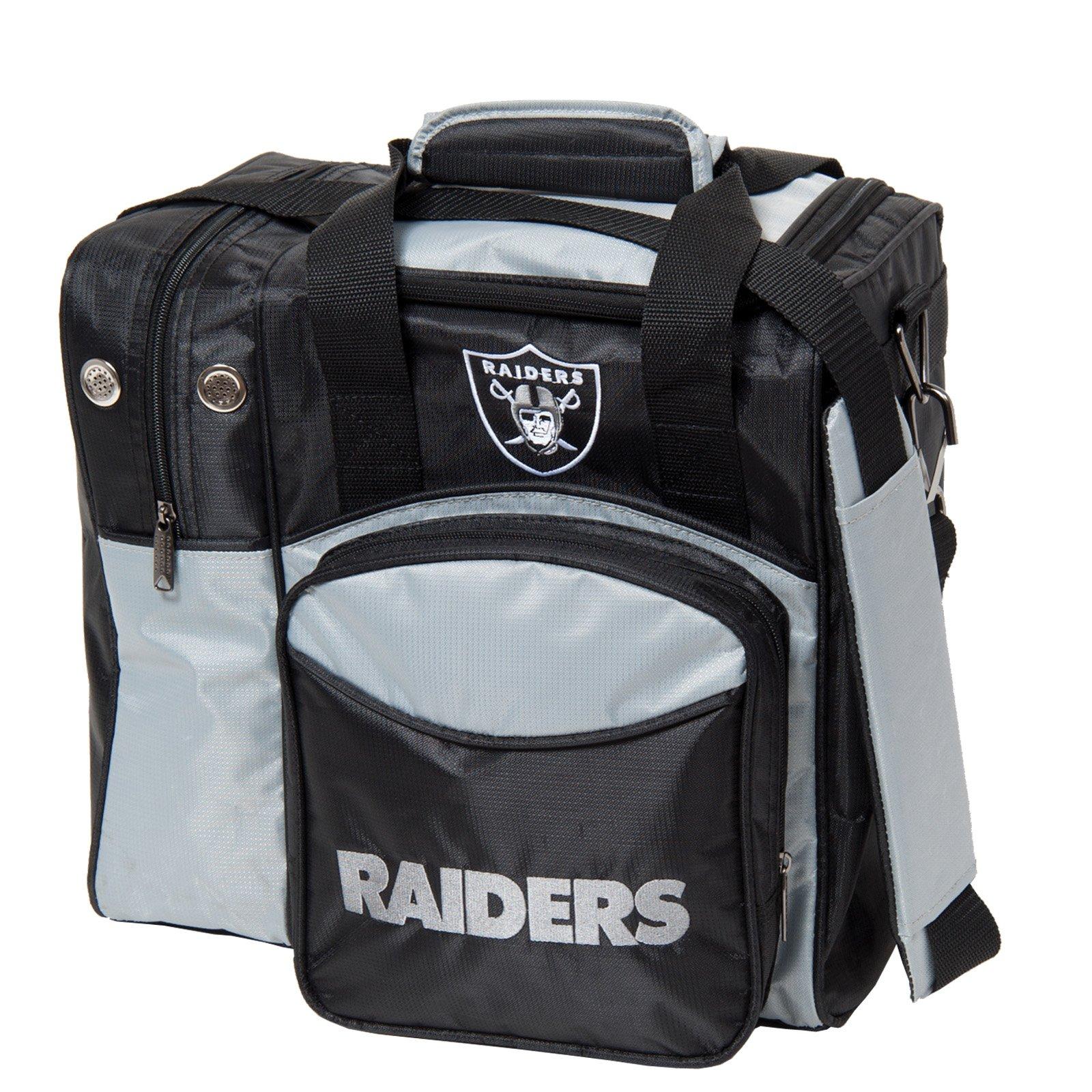 NFL Single Bag Oakland Raiders Bowling Ball Tote by Strikeforce Bowling