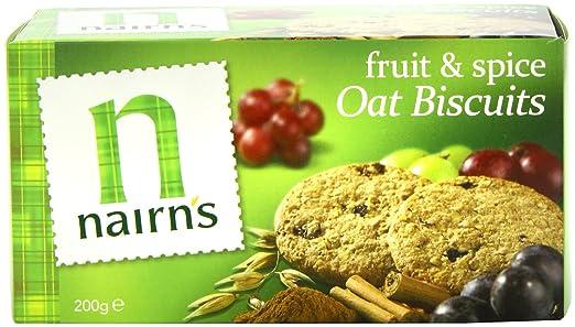 Nairns Frutas y especias Galletas 200 g (Paquete de 10 ...