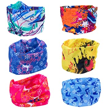 Landisun Headwear Headband Multifunctional Seamless Elastic Magic Outdoor Bandana Scarf UV Resistance