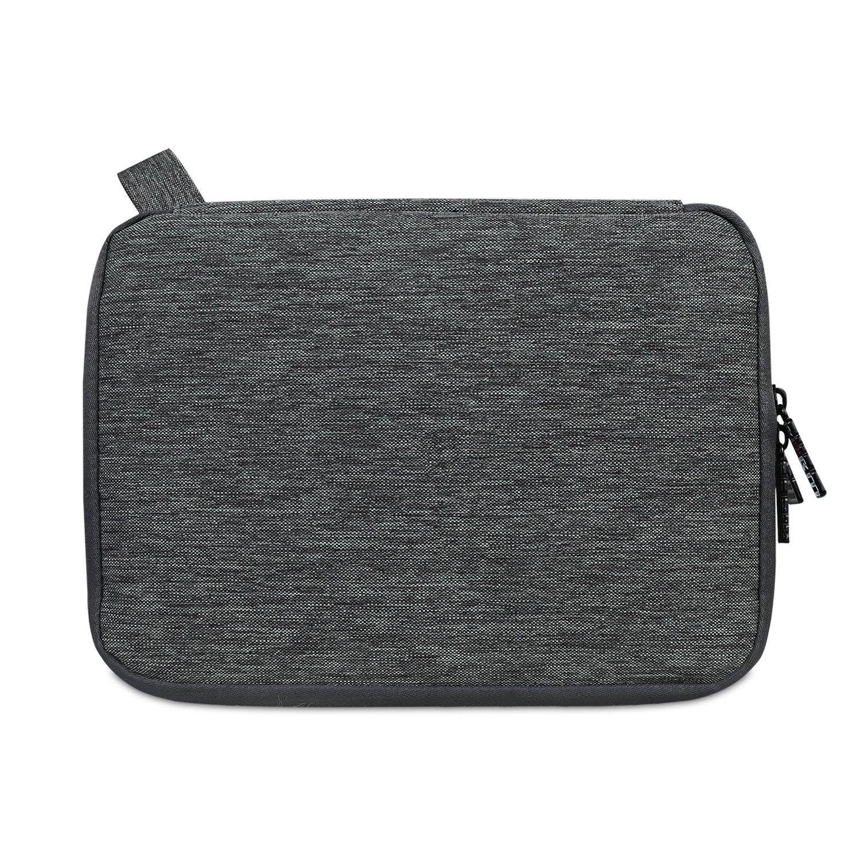 BUBM Organizador de Accesorios El/éctrica Estuche para Guardar Cables Memorias USB Bolsa con Cremallera para iPad mini//Tablet 2 capas Bolso de Doble Capas--Medio ajuste de 8 pulgadas