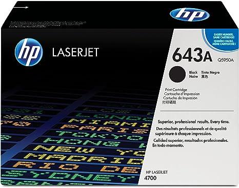 Amazon.com: HP 643 A (Q5950 A) Black Original LaserJet Toner ...