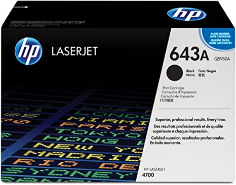 HP 643A   Q5950A   Toner Cartridge   Black
