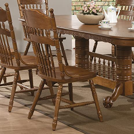 Marvelous Coaster Home Furnishings 104272 Country Dining Chair, Oak, Set Of 2