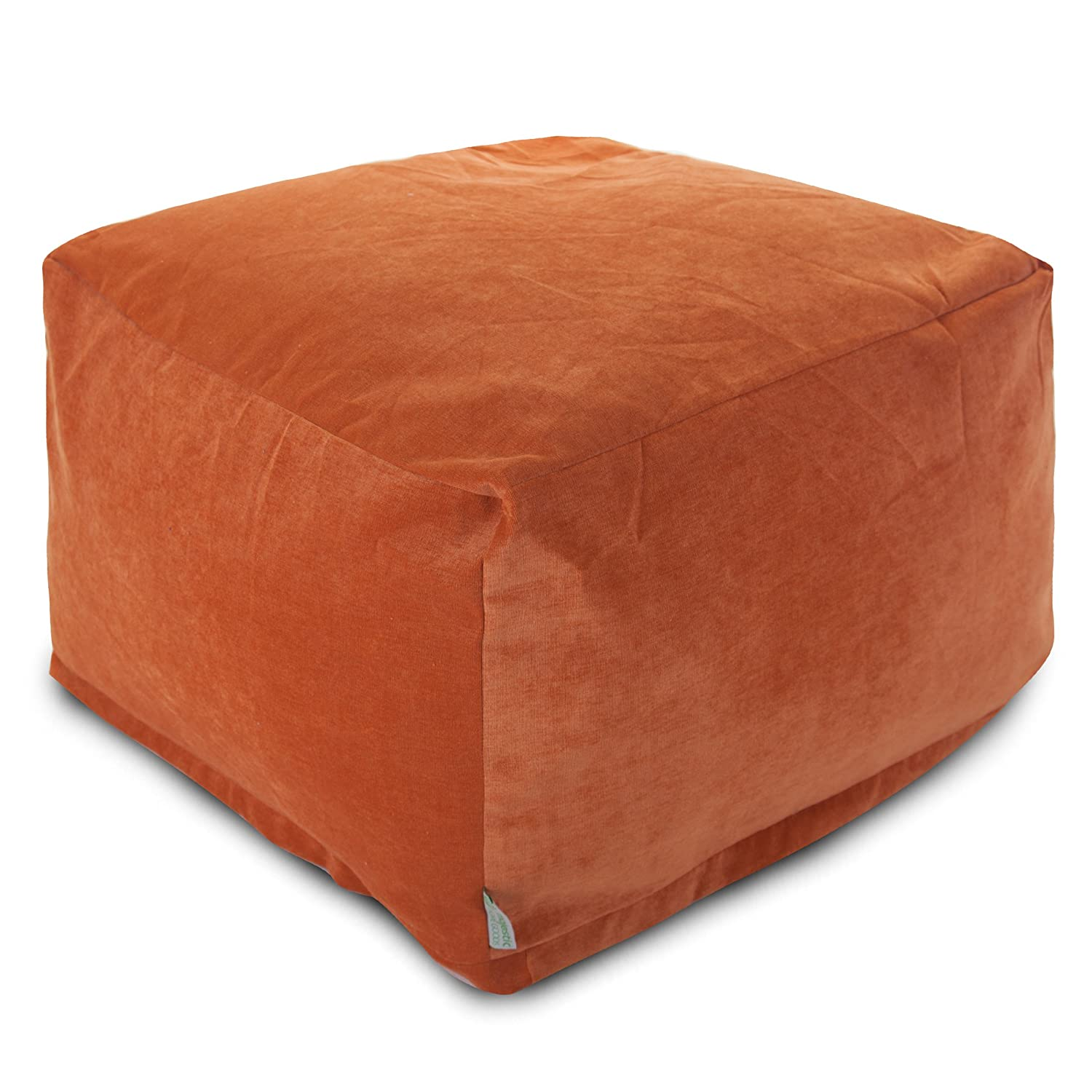 amazoncom majestic home goods villa orange large ottoman  - amazoncom majestic home goods villa orange large ottoman kitchen  dining