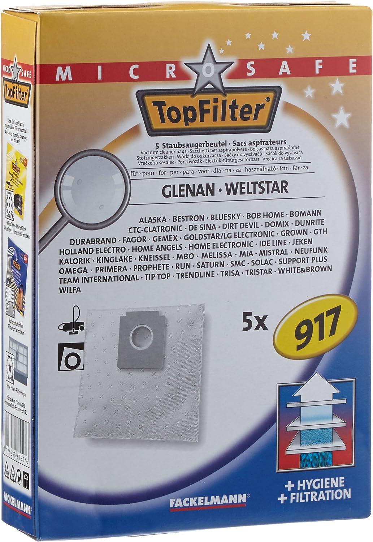 Top Filter n.º 917 - Bolsas para aspiradora, 5 unidades: Amazon.es: Hogar