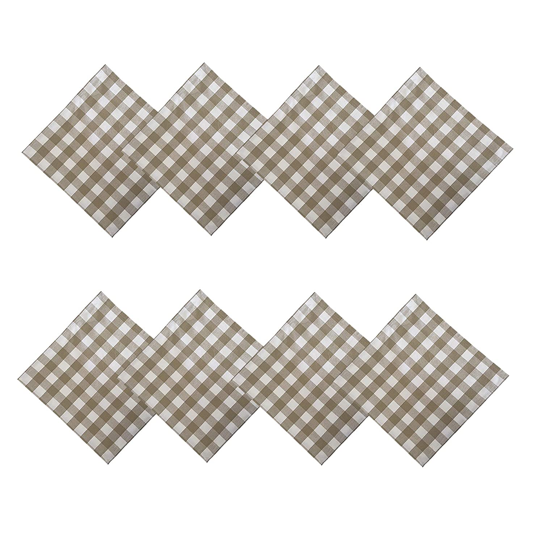 Set of 4 Napkins Burgundy Cottage Style Gingham Check Pattern Newbridge Buffalo Check Indoor//Outdoor Cotton Napkins