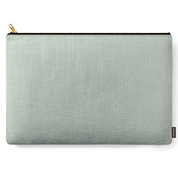 Light Sage Green Solid by Kierkegaard Design Studio on Carry All Pouch - Large 12.5